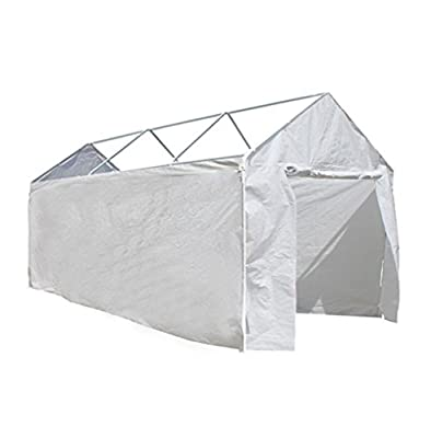 ALEKO CP1020N Weather Resistant Polyethylene Caravan Carport Sidewalls 10 x 20 Foot White
