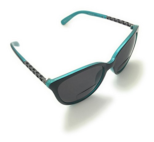 Women's Bifocal Cateye Sunglasses Sun Readers Reading Glasses Maximum UV Production (Aqua, 2.25)