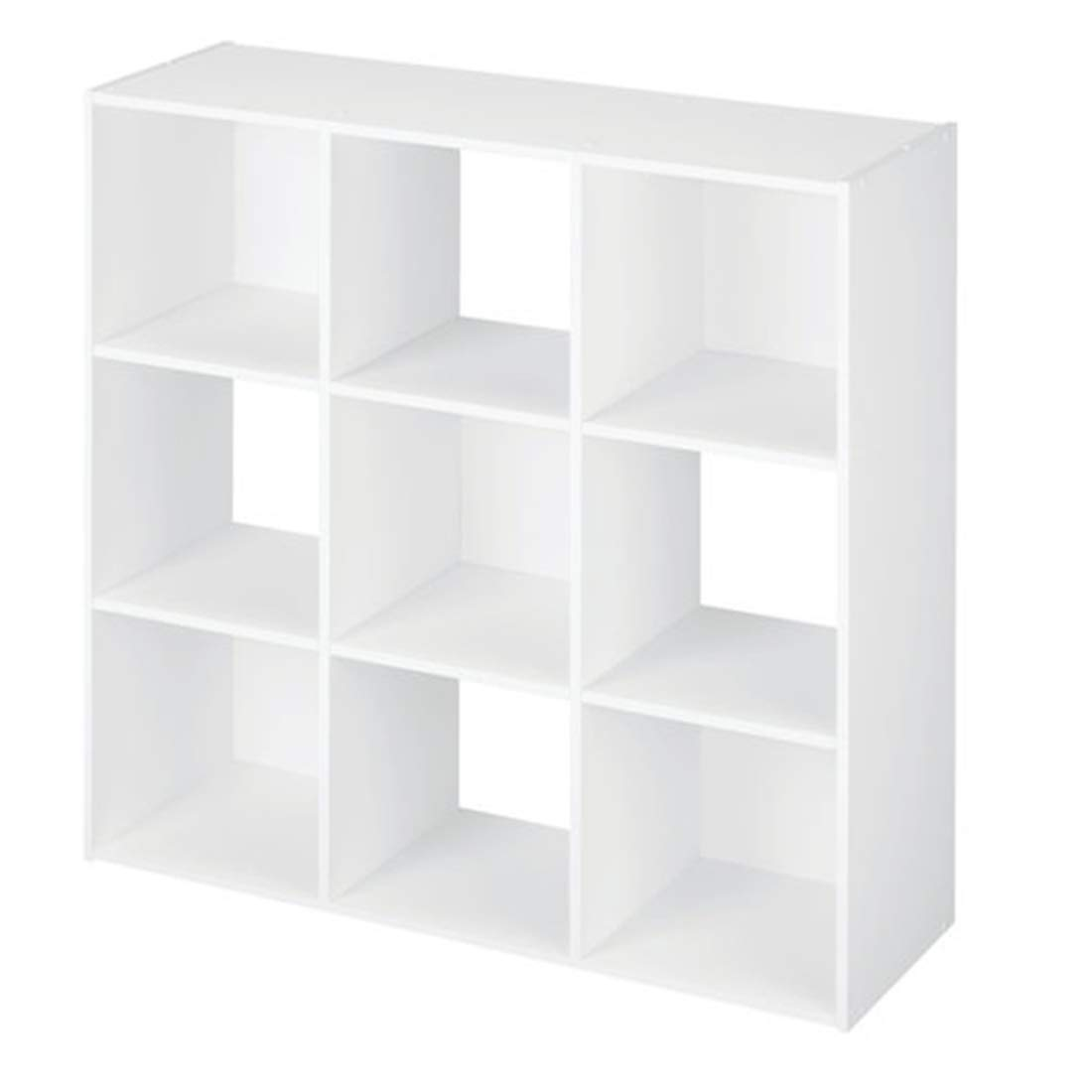 MS Home 9 Cube Multipurpose Organizer for Figurine and Toys - Clothing Storage Stackable - Laminated and Easy to Assemble 36'' W x 36'' H x 12'' D (White)
