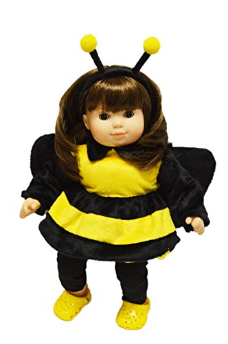 My Brittany's Bumble Bee Halloween Costume For American Girl Dolls Bitty Twins and Bitty Baby (Twin Girl Costumes)
