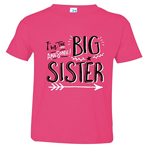 Hipster Design I'm the Awesome Big Sister Shirts, Includes Small 6-8 (Big Sister Big Brother Shirts compare prices)