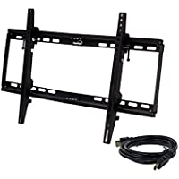 NavePoint Slim Low Profile TV Mount Bracket LED Tilt 32-60 Inches with HDMI Black