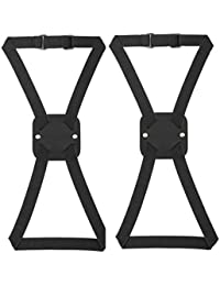 Bag Bungee, Luggage Bungee - Luggage Straps Suitcase Adjustable Belt – An Adjustable and Portable Travel Suitcase Accessory (2-pack,Black)