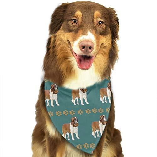 ANYWN Pet Dog Bandanas Saint Bernard with Barrel Triangle Bibs Scarfs Accessories for Puppies Cats Pets Animals Large -