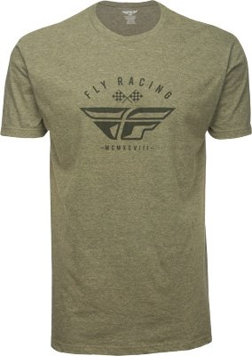 (Fly Racing Unisex-Adult Patriarch Tee Sage/Black Heather X-Large)