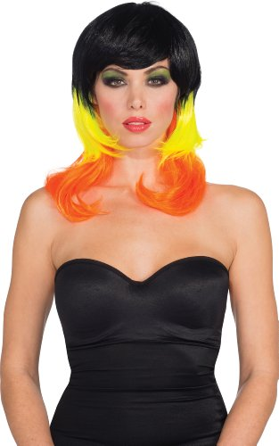 Candy Corn Costumes Adult (Rubie's CostumeTri-color Candy Corn Wig, Multicolor, One Size)