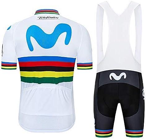 TOPBIKEB Maillot Cyclisme Homme Manches Courtes Tenue de V/élo Cuissard Court avec Gel 3D Rembourr/é