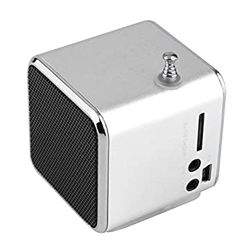 Fineblue Mini Música Portátil Altavoz TD-V26 Micro SD TF MP3 Apoyo al Jugador Radio FM USB Altavoces Estéreo para Ordenador MP4 pc - Plata: Amazon.es: ...