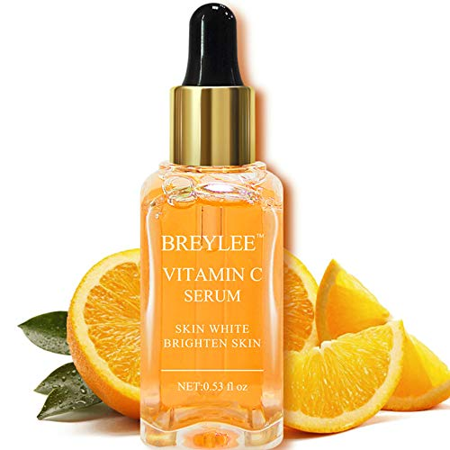 Vitamin C Serum, Breylee Natural Facial Serum with Organic Ingredients Moisturizer Serum for Skin Whiten Brighten Skin Care (15ml, 0.53Fl Oz)
