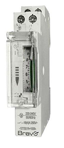 Schema Elettrico Per Temporizzatore : Bravo orologio meccanico timer per quadri elettrici din 230v