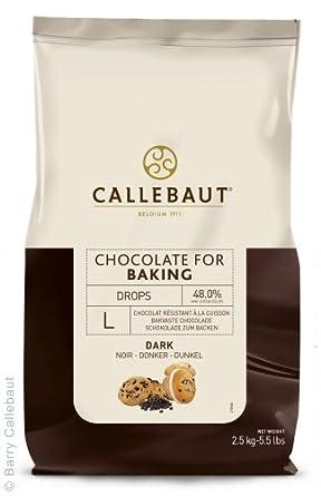 Callebaut - Gotas de Chocolate Negro para Hornear 2,5kg: Amazon.es: Alimentación y bebidas