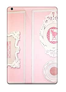Case Cover Pink And White Wall Artwork/ Fashionable Case For Ipad Mini/mini 2