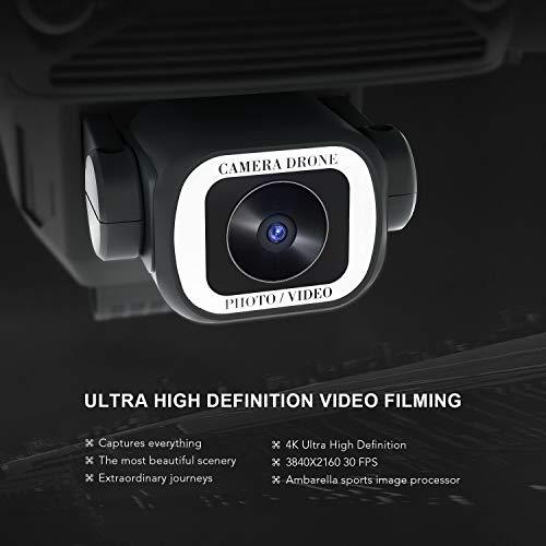 EACHINE Drone avec Camera 4k HD GPS 5G-WiFi E520S Pliable FPV avec Sac Quadcopter, De Deux 1200mAh Batteries Inclus