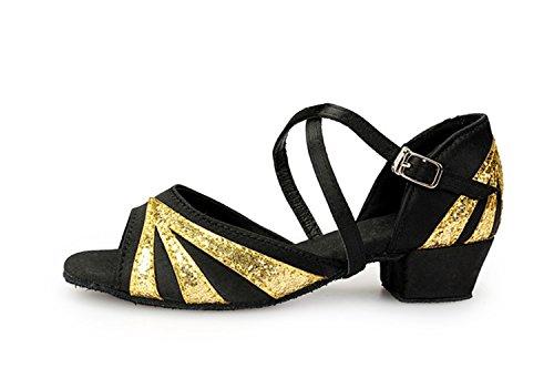 Heel 5cm Miyoopark Black de 3 bal femme Gold Salle 0Z840S