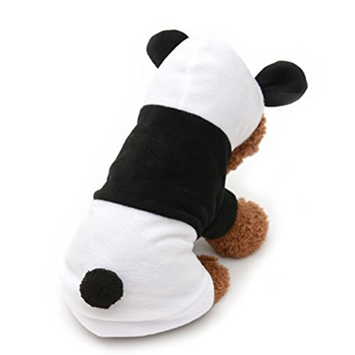 UEETEK Dog Clothes Pet Dog Panda Clothes Puppy Hoodie Coat Dog Cat Outwear Apparel -