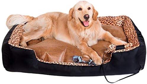 Cama para Perros Gato Perrera extraíble y Lavable en Ambos Lados. Casa de Perro Blanda. Perro Grande Four Seasons Universal -60/70/90/120 / 150cm Lavable ...