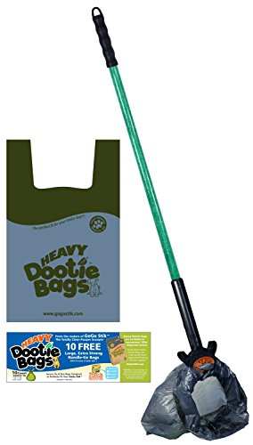 GoGo Stik, the Totally Clean Pooper Scooper. You and Tool Stay Clean! Save and Use any Bag. Scoop and Collect Until Bag Fills! Use With the E-Z Wedge for Indoors and the Most Challenging Surfaces! (Doggy Scoop Bags)