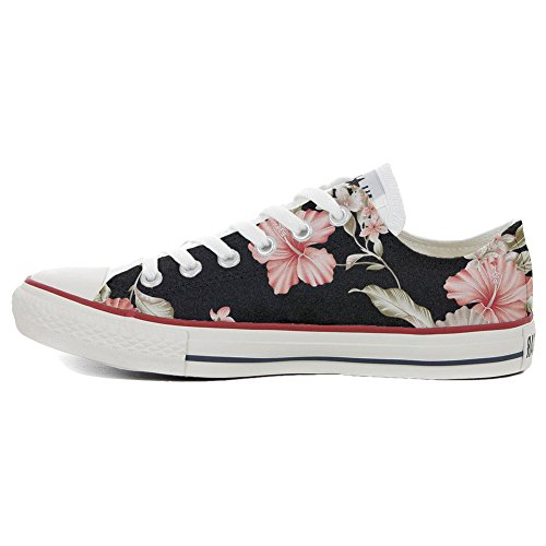 Converse All Star Customized Unisex - zapatos personalizados (Producto Artesano) Tropical flor