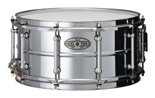 Pearl STA1465S 14 x 6.5 Inches Sensitone Snare Drum - Beaded (Beaded Brass Snare)