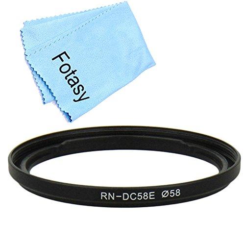 Fotasy FADC58EK 58mm Filter Adapter Ring and Premier Lens Cloth Kit for Canon PowerShot G1 X Mark II