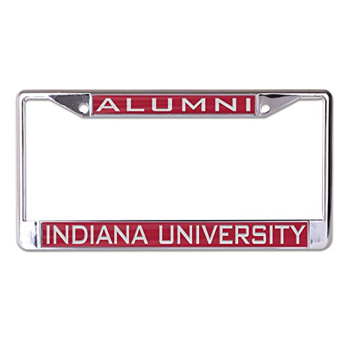 Metal Indiana Hoosiers (Wincraft NCAA Indiana Hoosiers Alumni Inlaid Metal License Plate Frame, 2-Tag Corners)