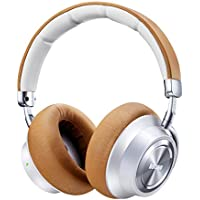 Boltune Noise Cancelling Headphones, [2019 Upgraded] Bluetooth Headphones with Microphone/Deep Bass Wireless Headphones Over-Ear, Protein Earpads 30H Playtime for Travel Work TV PC Cellphone