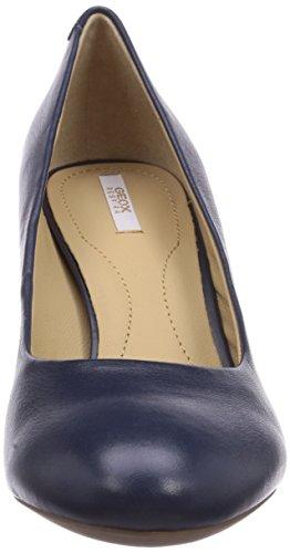 Geox D MARIEC.MID B - Plataforma de cuero mujer Blau (Navyc4002)