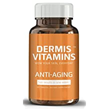 Best Anti Aging Dermis Vitamins For Women And Men - With Hyaluronic Acid, Amino Acids - Nutrient Supplement With Vitamin D & Vitamin E For Skin Tightening - Aging Skin Prevention, Glowing Skin From Dermis Vitamins