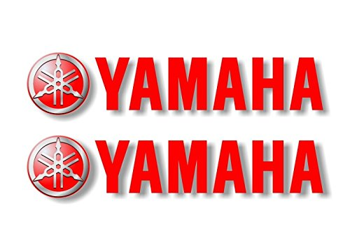 """Used, 2 Yamaha 9"""" Red Graphic Vinyl Decals for Truck Sled for sale  Delivered anywhere in Canada"""