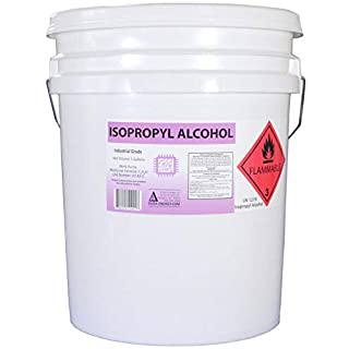 5 Gallon Pail of 99.8+% Pure Isopropyl Alcohol Federal Grade IPA Concentrated Rubbing Alcohol