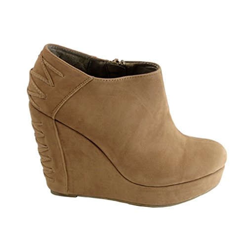 STYLES Wedge Women's Bootie Lace Fashion NEW Nude up Comfort Platform dx80w1qw