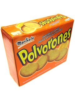 Polvorones Marinela - Shortbread Cookies Orange Flavored 1 Lb 5.2 Oz (Pack of 2)