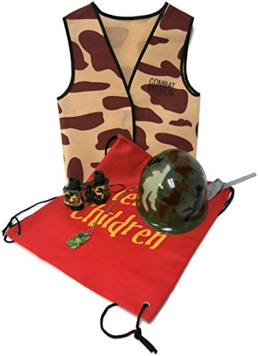 Auberge Kids Costumes Pretend Dress Up Role Play Sets (Army Soldier Camo)]()