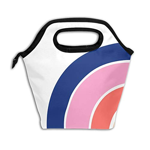 One Yard - Rainbow - Dreams - Large Rainbow Panel_649Lunch Bag Insulated Lunch Box Reusable Lunch Tote Cooler Organizer Bag Lunch Bags for Women,Men and Kids Adults ()