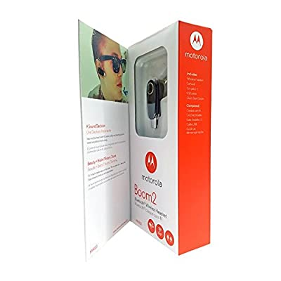 """Motorola Boom 2 Wireless Bluetooth Headset MH003 - """"Dual-Mic Noise Cancellation"""" (Retail Packing)"""