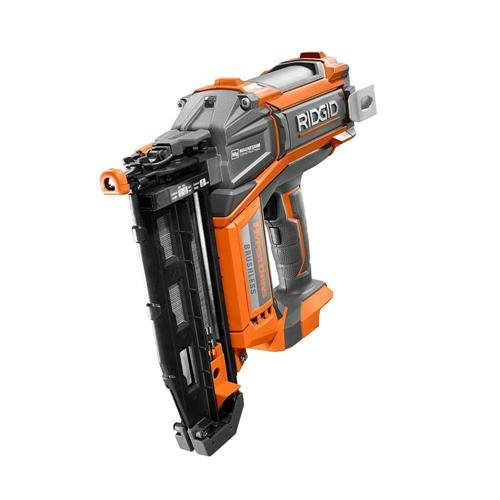Ridgid HyperDrive 16 Gauge 18v Brushless 2-1/2 In. Straight Finish Nailer (Cordless Tool Set Ridgid Power)