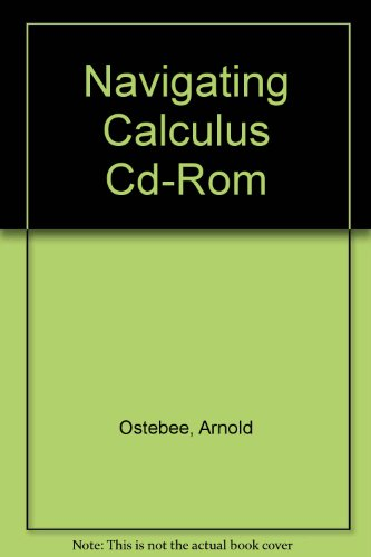 Navigating Calculus Cd-rom