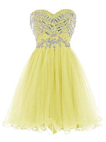 Dark Party Kleider Ball Wedding Kleider Yellow Red Kurz Ball 2016 Fanciest Damen Beaded wqSv4B8