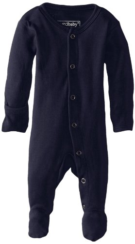 (L'ovedbaby Unisex-Baby Organic Cotton Footed Overall, Navy, 0/3)