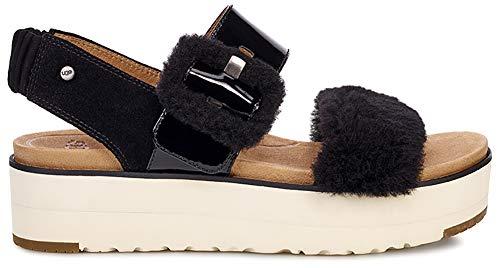 UGG Le Fluff Women's Sandal 8 B(M) US Black (Ladies Shoes Ugg)