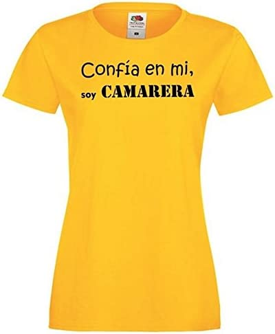 Camisetas divertidas Parent confia en mi, Soy Camarera - para Mujer Camiseta: Amazon.es: Ropa y accesorios