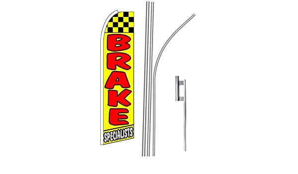 three BRAKE SPECIALISTS 15 Swooper #4 Feather Flags KIT 3