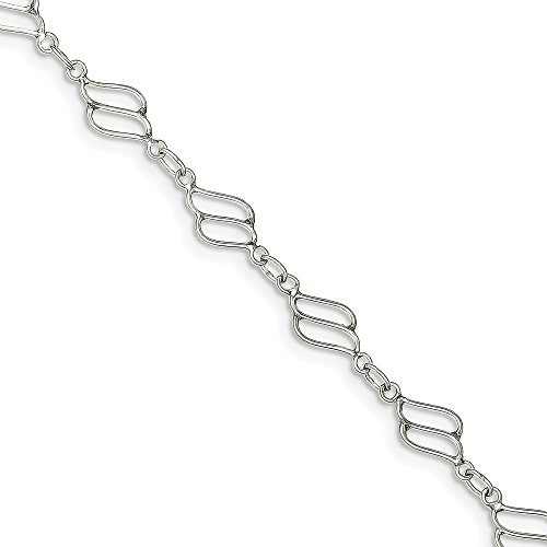 - Top 10 Jewelry Gift Sterling Silver 10inch Fancy Polished Anklet