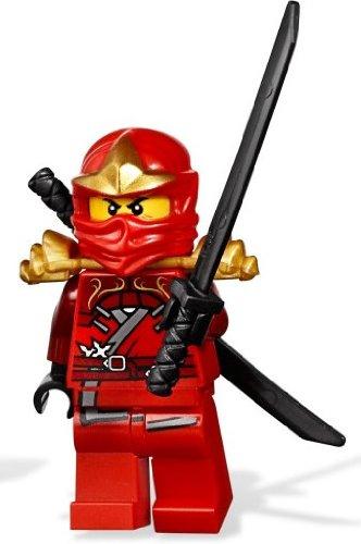 Ninja Lego Ninjago Red (LEGO Ninjago Red Ninja Minifigure - Kai ZX with Dual Black Shamshir)