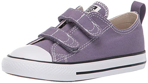 Converse Girls Infants' Chuck Taylor All Star 2019 Seasonal 2V Low Top Sneaker, Moody Purple/Natural Ivory, 2 M US -