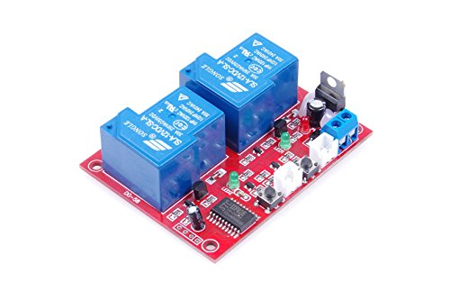 Dc 12v 2 Channel Self Latching Relay Module One Button