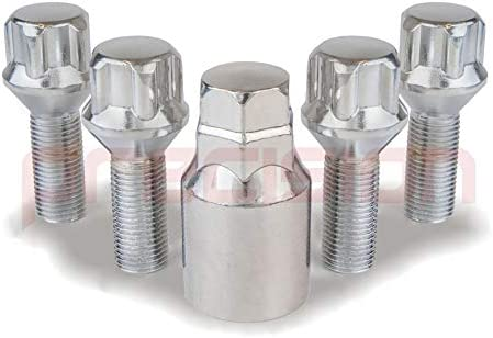 Precision Chrome Locking Bolts for Ṕeugeot 208 with Aftermarket Alloy Wheels PN.SFP-B22244