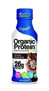 Orgain Organic 26g Protein Shake, Creamy Chocolate Fudge, 14 Ounce, 12 Count