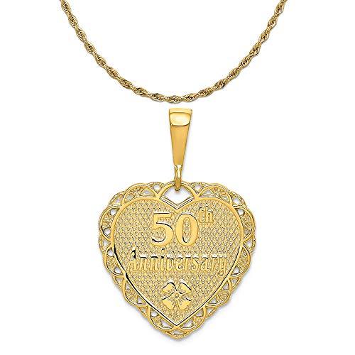 Gold 50th Anniversary Charm - 6