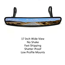 """17"""" Panoramic Rear View Mirror with 1.75"""" Clamp for Polaris RZR800 1000 XP900 1000"""